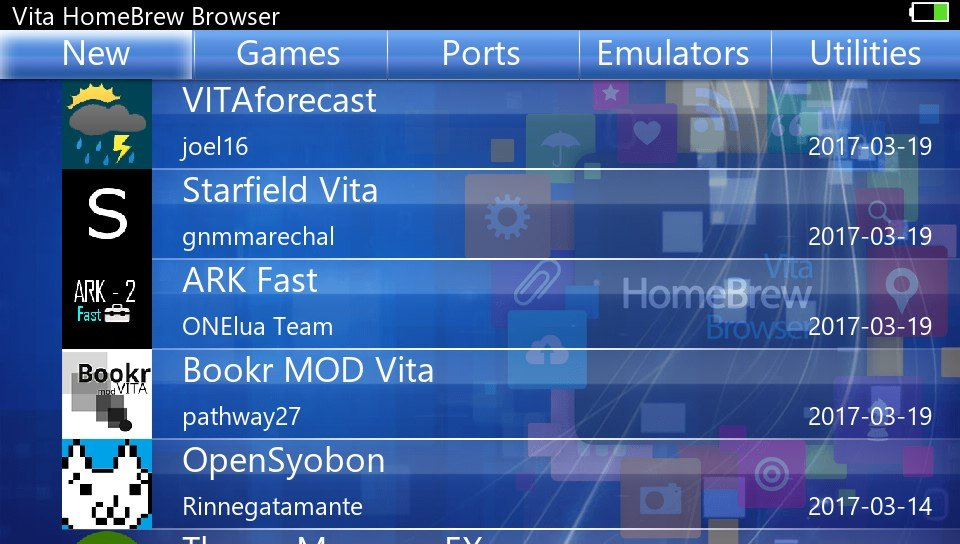 Vita-Homebrew-Browser